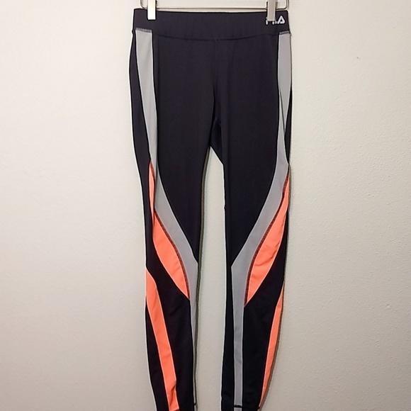 c0cd6739a9d3 Fila Pants | Colorblock Workout Leggings | Poshmark